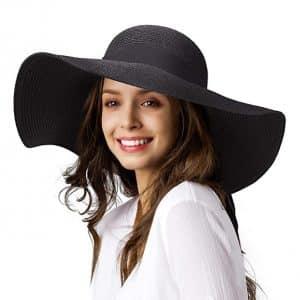 Furtalk Women's Sun Straw Hat Wide Brim