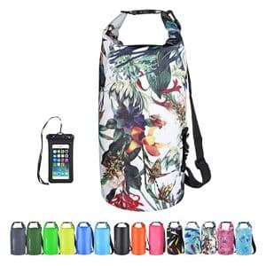 OMGear Waterproof Kayaking Canoeing Dry Bag with Waterproof Phone Pouch