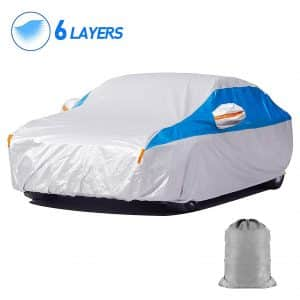 HIRALIY 6 Layers Waterproof Car Cover